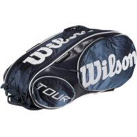 Wilson/威尔胜 Wilson Tour Blue/White 蓝白 九支装 网球包 WRZ846209
