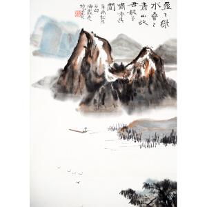 S何海霞  山水 62*39