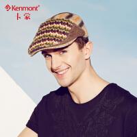 卡蒙春夏新款帽子韩版潮贝雷帽 男士凉帽遮阳帽 时尚鸭舌帽画家帽3159
