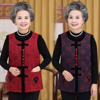 妈妈老年人秋装女装唐装马甲奶奶装背心老人衣服坎肩60-70岁上衣