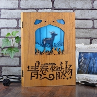 创意复古木盒同学录盒装男女学生毕业纪念册大号活页留言册礼品文具