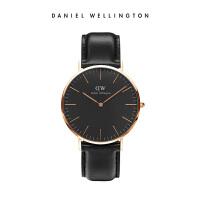 Danielwellington丹尼尔惠灵顿DW男士手表40mm时尚黑表简约石英表