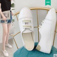 小白鞋女款百搭基础平底夏季透气休闲白鞋学生潮板鞋子洋气