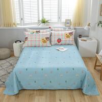 【每满100减50】全棉床单单件学生宿舍1.2m单人床1.5/1.8/2米双人纯棉被单