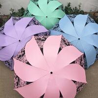 遮阳伞 黑胶防紫外线遮阳伞 防晒伞 太阳伞 晴雨两用 风车伞 折叠超轻便携带伞