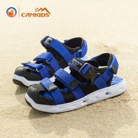 【每满200减100,买就送价值28元的彩笔】CAMKIDS男童鞋2018新款韩版夏季中大童户外凉鞋儿童沙滩鞋女
