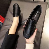 韩版百搭女士平底单鞋 新款英伦风学生复古皮鞋子女 软妹ins小皮鞋女