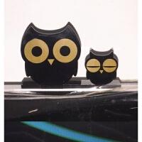 家居电脑桌小摆件 创意可爱动物桌面粘贴式办公室电脑显示器摆件家居家庭装饰小饰品 猫头鹰 买2个送1个