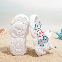儿童沙滩鞋女童凉鞋宝宝彩色小熊鞋男童半包凉鞋