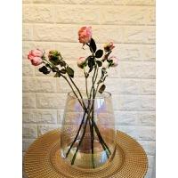 忠俊美国JCP原单瑕疵彩虹玻璃花器花瓶 18cm 新品