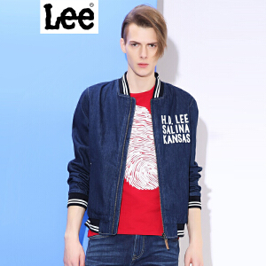 Lee 【新款】 男士夹克 2017秋冬新款复古棒球衫牛仔夹克外套男 L269491UG898