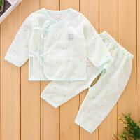 初生儿内衣套装夏季薄款长袖初生婴儿和尚服