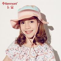 kenmont儿童帽子 夏天女童遮阳渔夫帽盆帽防晒沙滩帽大檐帽太阳帽4881