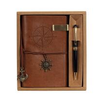 创意实用定制礼品公司活动送客户送员工商务纪念节庆礼品定制logo 如图 土黄+金色签字笔