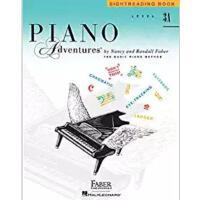 预售 英文原版 菲伯尔钢琴基础教程(3A级):视奏 Piano Adventures: Level 3A: Sightr