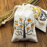 刺绣手工布艺DIY刺绣材料包香囊收纳袋束口袋香包零钱包袋子