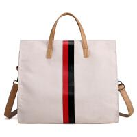 女士包包2018新款帆布时尚女包韩版休闲单肩布包大容量手提斜挎包