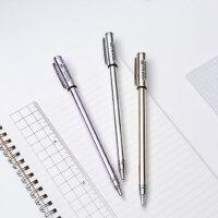 至尚k-5创美金属中性笔全针管签字笔碳素办公黑色商务学生用0.5mm