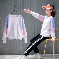 女童�L袖T恤春秋2020新款中大童�w恤春�b上衣�和�打底衫
