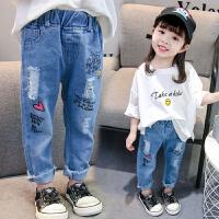 女童牛仔裤宝宝工装小童春装儿童裤子