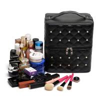 大容量化妆包多层收纳箱便携旅行化妆盒大号手提化妆箱