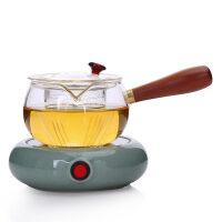 唐丰玻璃茶壶配保温座茶壶手工侧把泡茶壶过滤花茶壶功夫茶具茶器