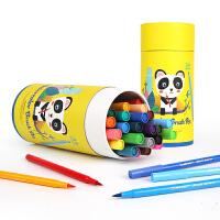 美乐儿童可水洗软头画笔水彩笔 24色软头水彩笔