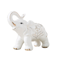 陶瓷大象摆件客厅家居装饰品欧式吉祥礼物象摆设