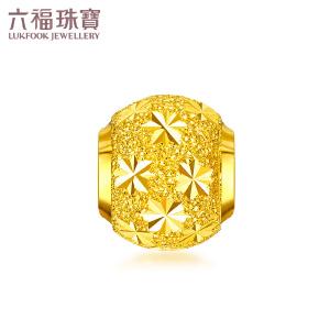 六福珠宝足金满天星路路通转运珠黄金串珠吊坠B01TBGP0012
