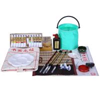 马利国画颜料套装 毛笔套装初学者工具箱入门18 24色12ml美术用品