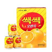 韩国进口饮料乐天lotte粒粒橙汁238ml*12瓶夏日果味桔子果汁饮品橘子汁