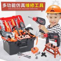 儿童工具箱玩具套装宝宝仿真维修电钻工具台修理箱男孩拧螺丝组装