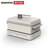 韩国大宇(DAEWOO)多功能料理锅烤肉机火锅电烤锅烧烤炉家用蒸煮网红一体锅 标配 s11白色