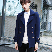 毛呢大衣男士外套韩版修身秋冬季中长款风衣青年潮流男装2017新款