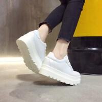 户外小白鞋女韩版百搭学生厚底内增高运动鞋女鞋子潮