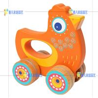 木质可爱动物手抓推车婴儿助步学步车宝宝玩具1-2岁