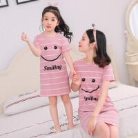 儿童睡裙短袖夏季女童装宝宝薄款公主裙小女孩睡衣家居服