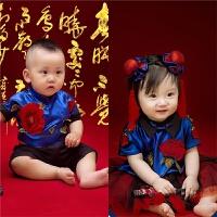 新款儿童摄影服装 影楼拍照百天古装国学主题照相哪吒公主裙