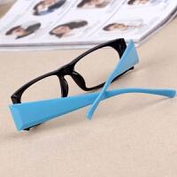 复古小方框女士装饰眼镜框 男女眼镜框架无镜片经典宽腿眼镜