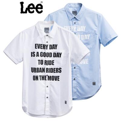 Lee男装 商场同款2017春夏新品男士标语印花短袖衬衫2色可选