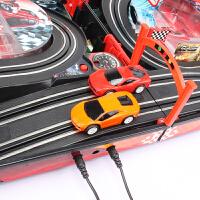 儿童男孩双人手摇赛道小汽车套装总动员轨道遥控赛车玩具