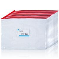 广博(GuangBo)12只装A5透明文件袋/拉链资料袋/办公用品 单色随机P0007