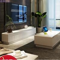 客厅白色电视柜现代简约小户型家具烤漆卧室电视机柜现代钢化玻璃 2. 组装