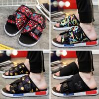 韩版潮流个性人字拖鞋男士凉拖鞋夏季时尚休闲凉鞋防滑室外沙滩鞋