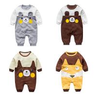 女婴儿连体衣服春夏装0岁5个月男宝宝新生儿夏季休闲潮款内衣睡衣