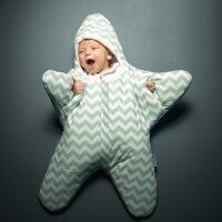 INSULAR婴儿秋冬保暖睡袋海星外形宝宝睡袋抱被新生儿睡袋