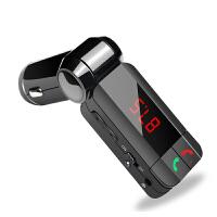 车载mp3播放器蓝牙免提电话点烟器式汽车用FM发射U盘音乐充电