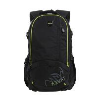 七夕礼物新款防泼水 双肩背包男电脑包旅行包大容量学院潮 旅游行李包 绿黑色