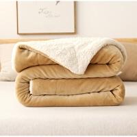 双层毛毯被子加厚珊瑚绒法兰绒床单人宿舍学生午睡小毯子冬季保暖