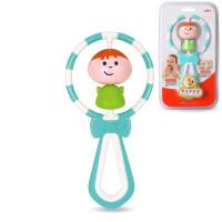 婴幼儿玩具 萌宝手摇铃玩具磨牙棒宝宝儿童礼盒装生日礼物 汇乐-萌宝摇咬棒-蓝色款